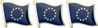 Tanto Badges X 3 EU-EU Bandera de Placas Logro de Metal Pin