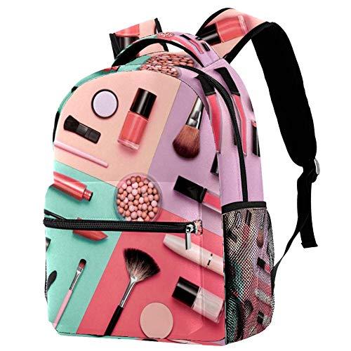 Guarderia Mochila Escolar Herramientas de Maquillaje Mujer Linda Mochila para niños, Mini Gracioso Bolsa para la Escuela 29.4x20x40cm