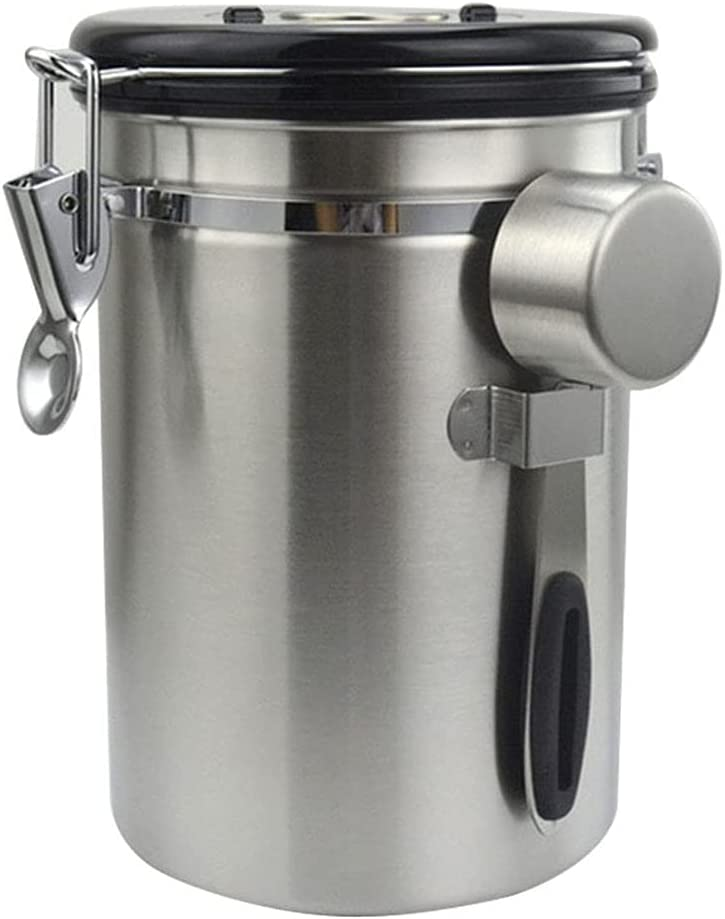 Airtight Coffee Canister Stainless Steel Container Coffee Ground