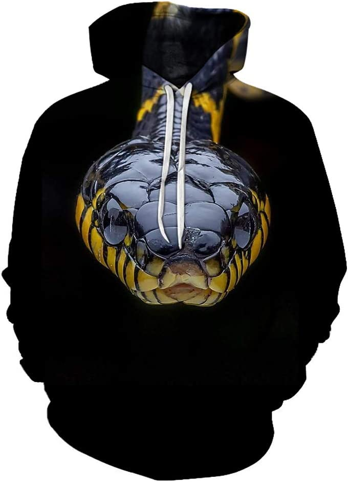 MOHKJMML 3D Pullover 3D Snake Simple Design Pullover Leisure Breathable Outwear Men (Color : A02, Size : Small)