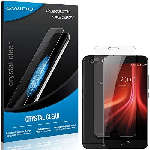 SWIDO Schutzfolie für UMIDIGI Z1 Pro [2 Stück] Kristall-Klar, Hoher Festigkeitgrad, Schutz vor Öl, Staub & Kratzer/Glasfolie, Bildschirmschutz, Bildschirmschutzfolie, Panzerglas-Folie