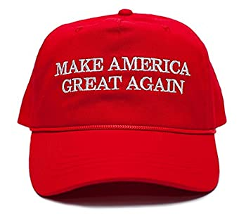 Make America Great Again Embroidered Donald Trump 2016 Cloth & Braid Hat  MAGA_RED