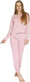 INCOGNITA Pijama Mujer Blusa Pantalón Estrellas Rosa Ligera Suave 660035