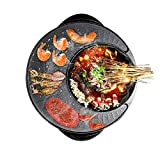 GZSZ BBQ Barbecue und Hot Pot, Elektrogrill 2 in 1, Elektro Hot Pot Elektrogrill Elektrische Auflaufform, Integrierter Topf -Heimgebrauch
