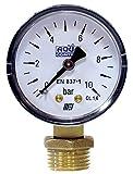 "Aqua Control C6199 - Manómetro de 0 a 10 Bar. Roscas 1/4"" y 1/2"""
