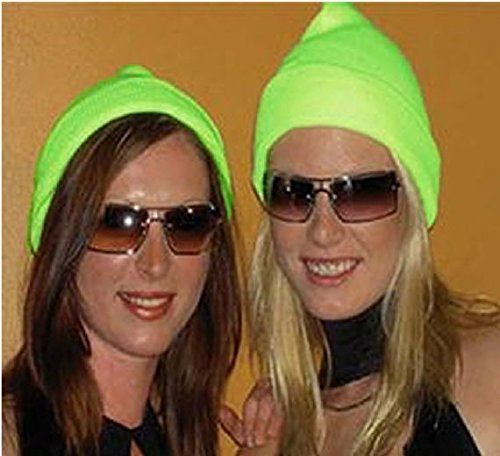 Mondial-Fete - Bonnet Vert Fluo