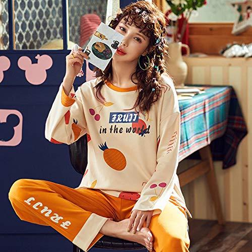 uwant:)sexy clothes Pyjamas Frauen Frühling und Herbst Trend Baumwolle Langarm niedlichen Cartoon Hause Kleidung Frauen Herbst und Winter können @ L_FDQ19406 getragen Werden