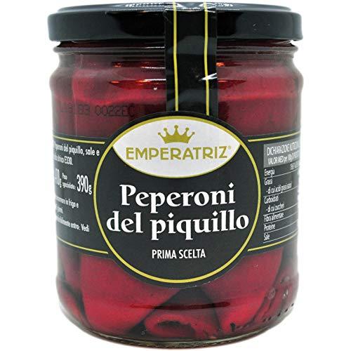 Peperoni del Piquillo qualità extra 20pz circa 410g: abbrustoliti e spellati e dolcissimi.