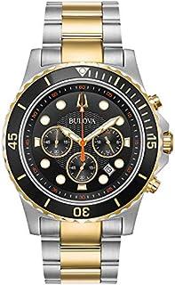 Bulova - Reloj de cuarzo para hombre, acero inoxidable, color: dos tonos (modelo: 98B327)