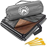 ECO FUTURE Picnic Blanket Waterproof - Large Weatherproof Quilt for Indoor and Outdoor - Outdoor Blanket, Picnic Mat, Beach Blanket, Picnic Blanket - 4 Tent Stakes and Portable Pouch (Grey)