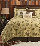 C&F Home Woodland Retreat Pinecone Full/Queen Quilt Set with 2 Shams Reversible Cotton Bedspread Coverlet Rustic Lodge Cabin Nature Brown Full/Queen 3 Piece Set Tan