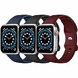 Paquete de 3 correas para Apple Watch compatibles con Apple Watch 38 mm, 42 mm, 40 mm, 44 mm, correa...