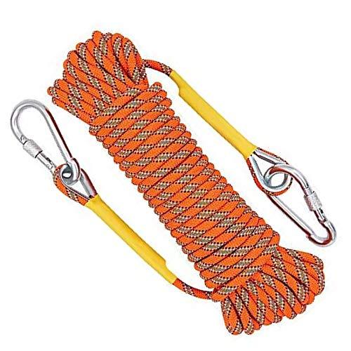 Jeffrey Corda da Arrampicata Arancione da 10 m, Corda di Sicurezza per Esterni, Corda di Sicurezza...