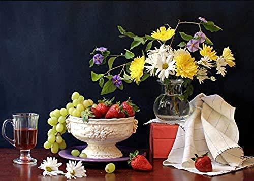QNJY Puzzle Erwachsene Kreatives Spiel DIY 1000 Stücke Wein Bouquet 70x50cm 3D Kinder Puzzle-Spiel Puzzle