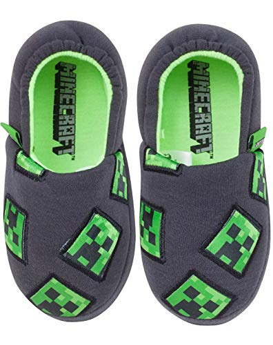 Minecraft Creeper Boy's Slippers (11 UK Kids)