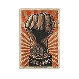 Retro-Poster, Faust, altmodische Raumästhetik,