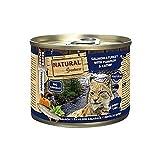 Natural Greatness Comida Húmeda para Gatos de Salmón y Pavo con Calabaza y Menta de Gatos. Pack de 12 Unidades. 200 gr Cada Lata