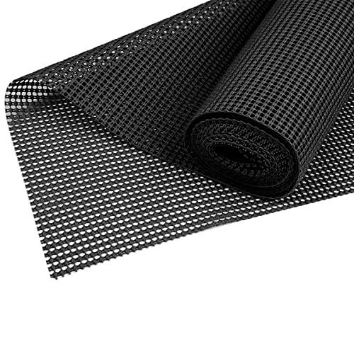 Tapis Antidérapant et Lavable Polyvalent, Tapis Antidérapant sous et Protection pour Tapis Base Matte Rajustable à la Taille 45x300cm (Noir)