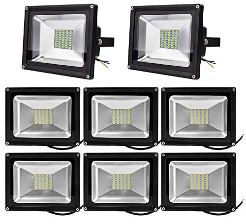 Yunt 8X 30 Watt LED Flood Light SMD Flutlicht Außen Fluter Warmweiss Scheinwerfer Strahler Licht IP65 Gartenleuchte Security Light