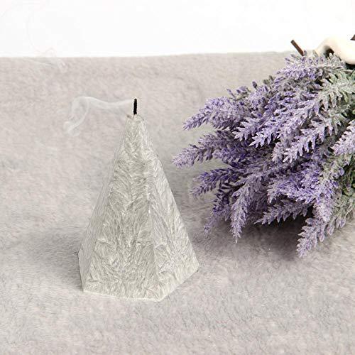 Jiyi Manuelle fünfeckige Kerze Aromatherapie Kreative Aromatherapie Pflanze Eisblume Kerze ohne Logo Kerze Aromatherapie, White:zumalongbluewindbell(withoutcoaster)