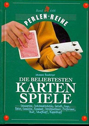 Die beliebtesten Kartenspiele: Schnapsen, Sechsundsechzig, Tarock, Poker, Canasta, Rummy, Streitpatience, Preference, Skat, Schafkopf, Doppelkopf