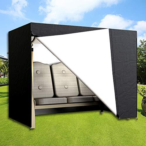 Dightyoho Schutzhülle hollywoodschaukel 3 sitzer wasserdicht Abdeckung für Gartenschaukel 220 x 170 x 125 cm aus Polyethylen