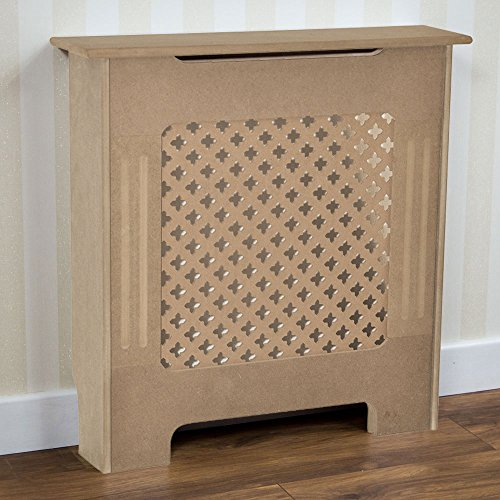 Vida Designs Oxford Radiator Cover Traditional Unfinished Unpainted MDF Cabinet Grill, Small
