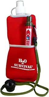 H2O SURVIVAL-H2OLIFEGUARD Water Filter Straw. 99.9999% Effective Filtration:Bacteria/Viruses/Heavy Metals/530 GAL. High Capacity Foreign/Domestic Use. Includes Neoprene Hydration Bag & Adaptor.