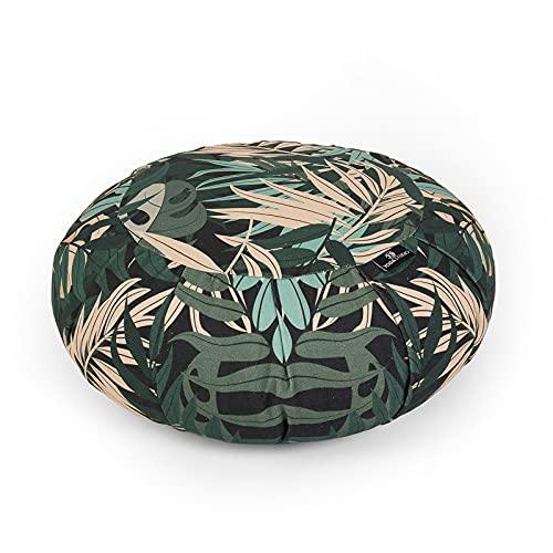 Yogastudio unisex's YS desig GJ organisk 36 cm x 18 cm grön djungel, rund designad kudde med...