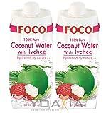 Foco Agua De Coco Foco Con Lichi, Bebida Exótica De Moda, Refrescante Que Calma La Sed, Bebida Deportiva, Agua De Coco Afrutada, Baja En Calorías, Vegano 500 g