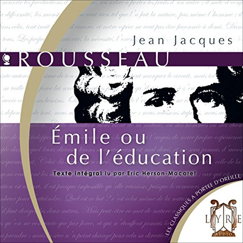 Couverture de Émile ou de l'Education