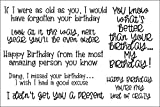 Stamps for Card-Making and Scrapbooking Supplies by The Stamps of Life - Funny Happy Birthday SassyBirthday2Stamp