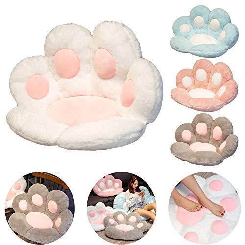 Cat Paw Cushion Cute Seat Cushion, Soft Comfortable Lazy Sofa Office Cat Paw Shape Seat Cushion for Home Bedroom Shop Restaurant Decoration (Blue)