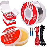 Solder Wire and Rosin Paste Kit - 0.6mm Active Tin Lead Solder Wire and Rosin...