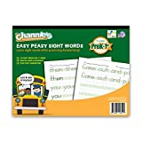 """Channie's Easy Peasy 100 Sight Words Workbook, Practice Printing, Tracing, and Handwriting, 80 Pages Front & Back, 40 Sheets, Grades Pre-K - 1st, Size 8.5"""" x 11"""""""