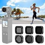 Neewer Set Filtros Magnéticos para Lente Cámara DJI Osmo Pocket 2/1 Incluye Filtros ND4 ND8 ND16 CPL ND32/PL ND64/PL con Recubrimiento Múltiple para Fotografía al Aire Libre (Negro)