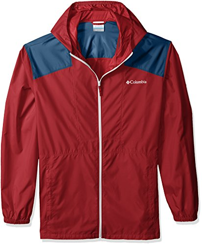 Columbia Men's Big and Tall Flashback Windbreaker, Red Element, Whale, XLT