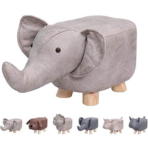 ESGT Reposapiés Creativo De La Moda De Ternera Dinosaurio Taburete Elefante Hipopótamo Banco Zapatos Niños Dibujos Animados Taburete Madera Sólida Taburete De Animales