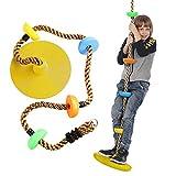 HSD Columpio infantil para jardín, con cuerda de escalada de 12 pulgadas, para niños (C)