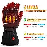 SAVIOR beheizte Handschuhe mit wiederaufladbare Lithium-Ionen-Batterie Beheizt für Männer und Frauen, arbeitet bis zu 2,5-6 Stunden (XL) - 2