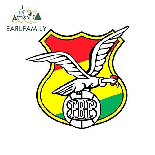 A/X Autoaufkleber 13 cm x 13 cm Bolivien National Football Association Logo Autoaufkleber Helm Motorrad Sonnenschutz Vinyl JDM Aufkleber