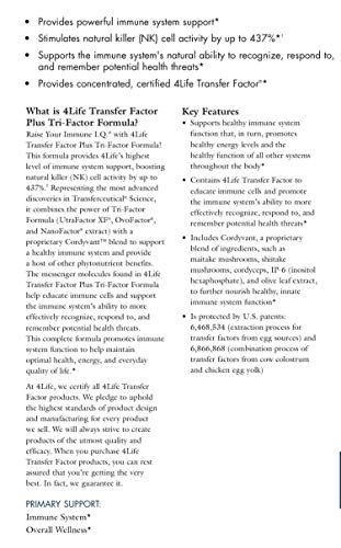 Transfer Factor Plus Tri-Factor Immune System Support Formula