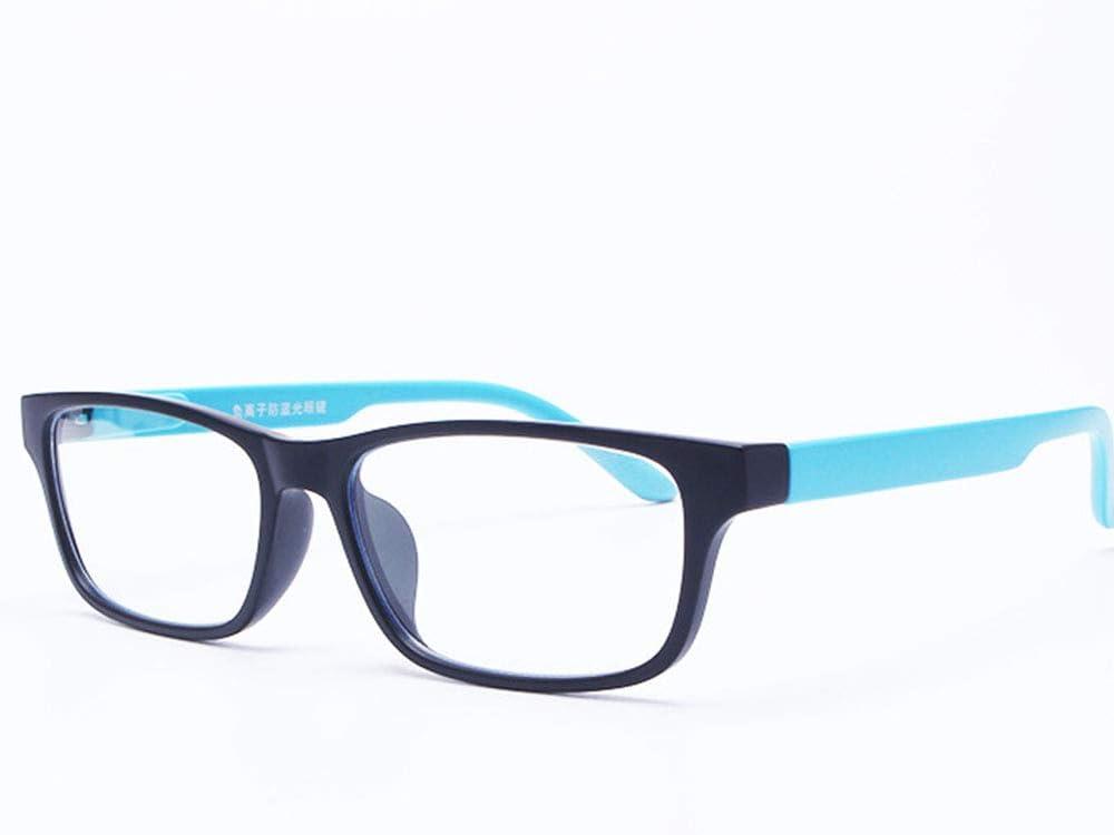 WWDKF Gafas Luz Azul Gafas De PC Unisex De Iones Negativos para Teléfonos Móviles con Computadora De Juegos PS4, Absorben Luz Azul De Alta Energía, Protección UV, Protección contra La Radiación,E