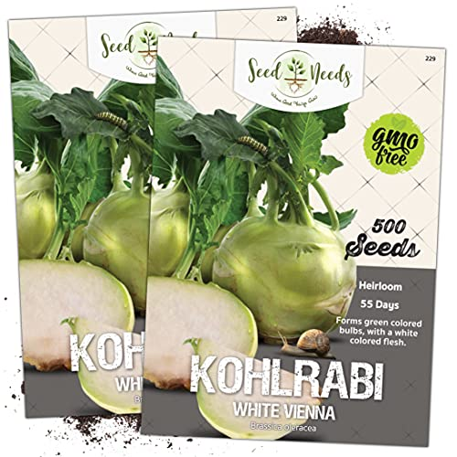 Seed Needs, Early White Vienna Kohlrabi (Brassica...
