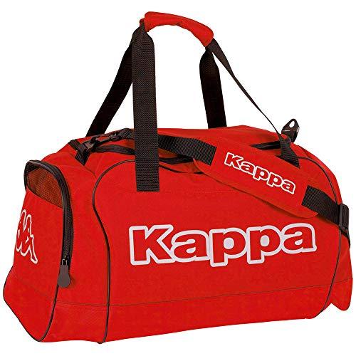 Kappa TOMAR Sport-Tasche rot I Trainings-Tasche mit Trockenfach & Schuhfach I für Männer & Frauen, Größe 60cm x 30cm x 39cm