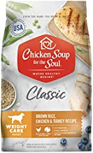 Chicken Soup for The Soul Weight Care Dog Food, Brown Rice, Chicken and Turkey Recipe, 28 lb. Bag | Soy Free, Corn Free, Wheat Free | Dry Dog Food Made with Real Ingredients