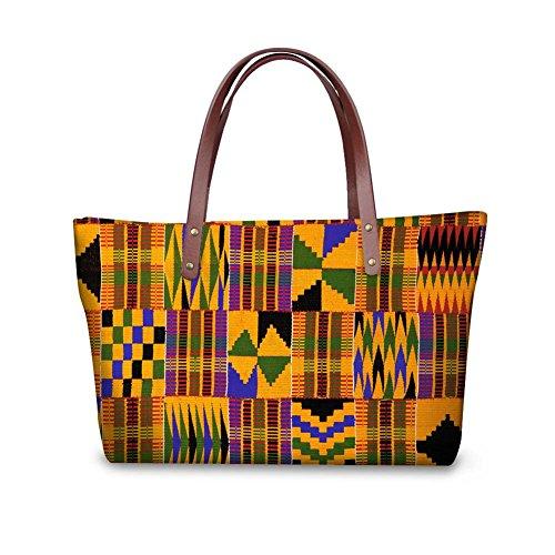 Sannovo African Tribal Ethnic Print Women Tote Shoulder Bags Casual Handbag Colour1,