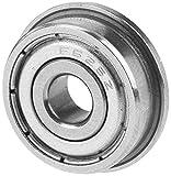 FTVOGUE 10 piezas F625ZZ Rodamientos de bolas radiales con bridas Miniatura de metal doble...