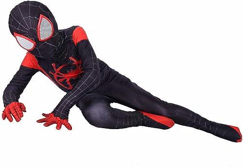 Envío y cambio gratis. BLOIBFS Disfraz Infantil De De De Spiderman,Halloween Disfraces Superheroes Ninos Carnaval Traje Elástico,negro-XS  ventas en linea