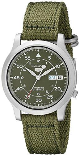 Hot Sale Seiko Men's SNK805 Seiko 5 Automatic Green Canvas Strap Casual Watch